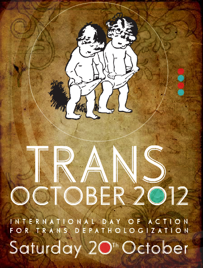 Poster Stop Trans Pathologisering 2012